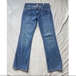 Lucky Brand Dungarees Mid Rise Flare Jeans size 6